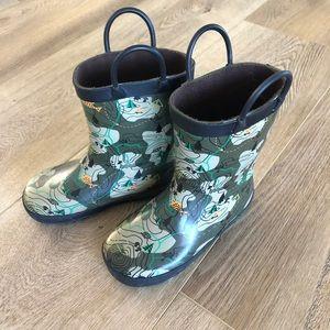 Little boys rain boots size 10 Kamik